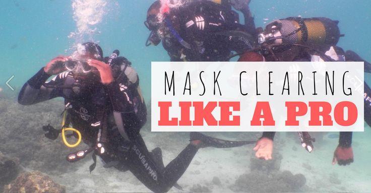 Clear your scuba mask like a pro #scubadiving #scuba