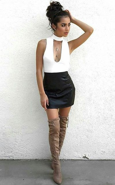 Best 25+ Knee high boots outfits ideas on Pinterest | Knee high boots dress Thigh high boots ...