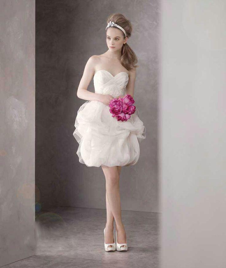Short bubble skirt wedding bridesmaid dress! http://www.alsotao.com/product/14660394000/taobao?sell=21