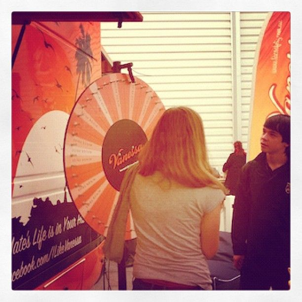 Spinning the prize wheel @ Teenage Expo