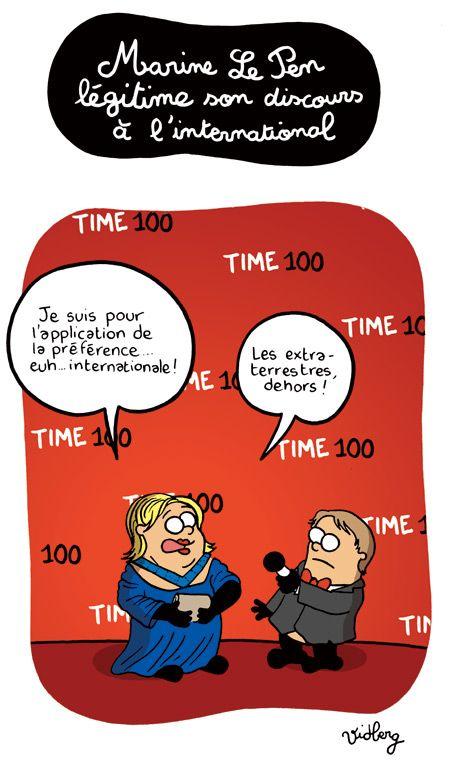 Marine Le Pen légitime son discours à l'international   L'actu en patates