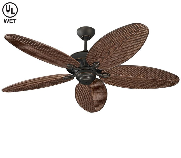 "Outdoor Ceiling Fans for Sale | Monte Carlo 5CU52RB, Cruise Roman Bronze 52"" Outdoor Ceiling Fan"