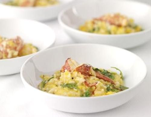 Lobster Risotto with Roasted Squash, Arugula, and Mascarpone Vanilla Oil  | Charlie Palmer Group by Charlie Palmer