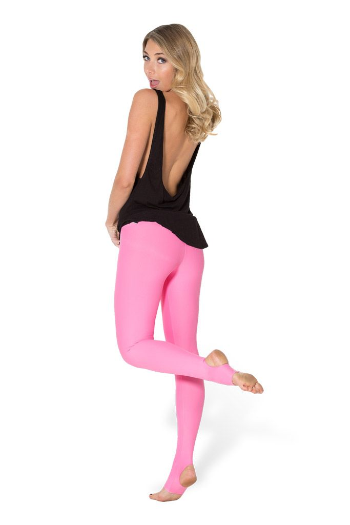 Matte Pink Stirrup Leggings by Black Milk Clothing $45AUD ($40USD)
