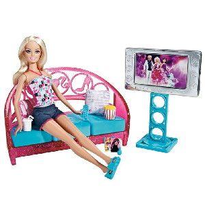 Boneca Barbie Real Mvel Sala De Estar Com
