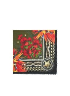 GIVENCHYPrinted  cashmere-modal scarf
