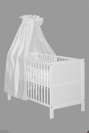 "Kinderbett | Gitterbett | ""NELE"" | 10-teilig | WEISS | umbaubar zum Juniorbett: Amazon.de: Baby  €138,95"