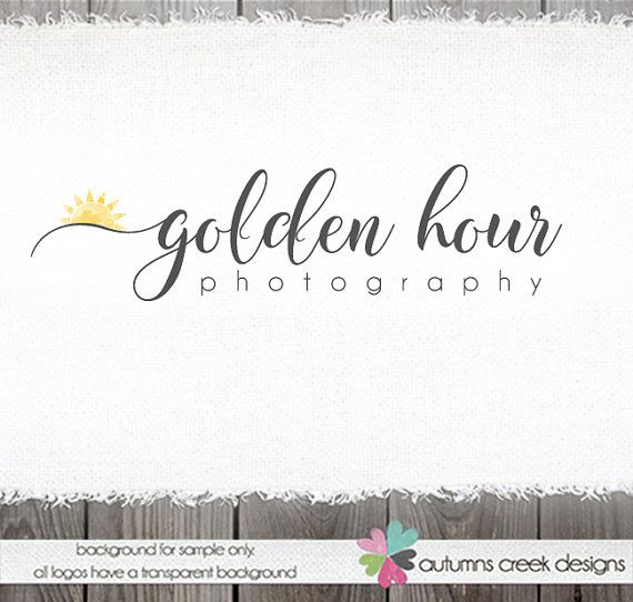 Photography Logo  watercolor logo  Sunrise Logo  by autumnscreek