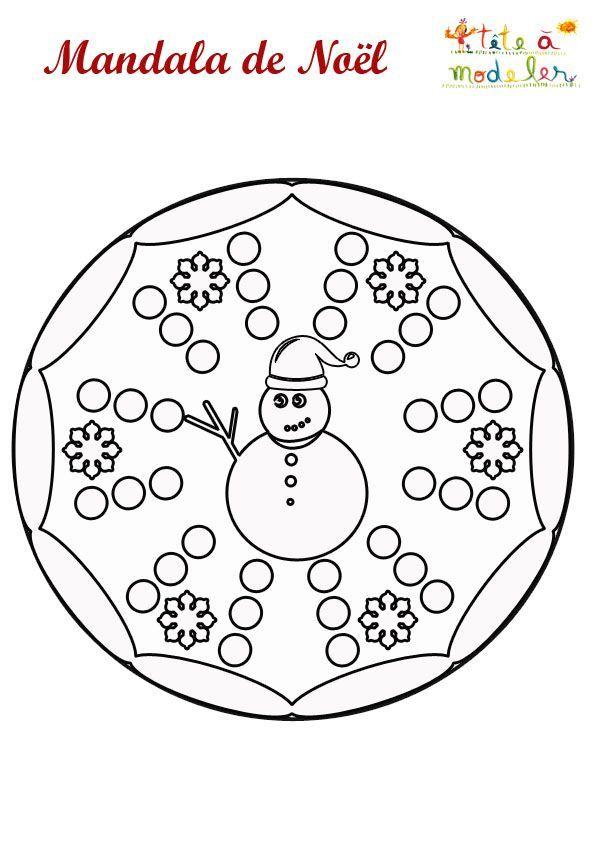 Mandala Schneemann Zum Ausdrucken Inverno Mandala Natale