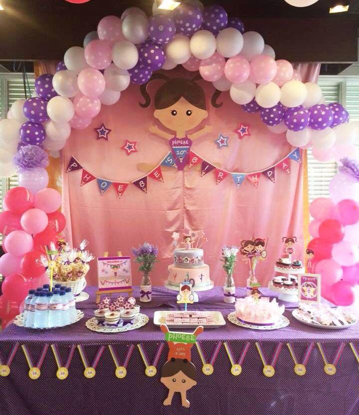 Gymnastic Theme Party Decoration