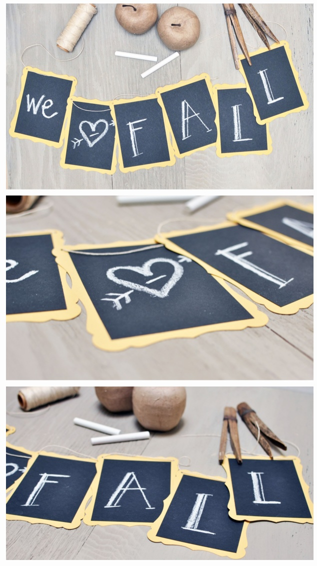Hang each student's name behind their table?  DIY Chalkboard Banner
