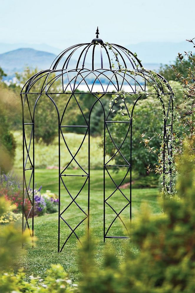 35 Top Guide Of Metal Garden Arbor Trellis With Gate Scroll