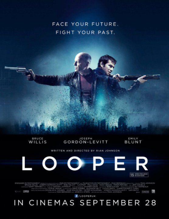 Looper (2012) - In 2074, when the mob wants to get rid of someone, the target is sent into the past, where a hired gun awaits - someone like Joe - who one day learns the mob wants to 'close the loop' by sending back Joe's future self for assassination.