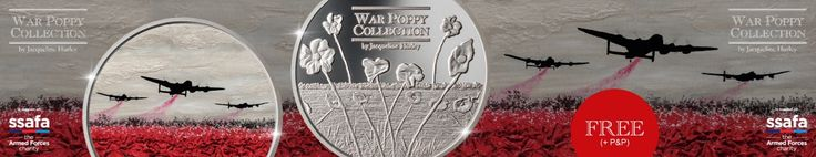 The War Poppy Collection by Jacqueline Hurley commemorative medals from World Challenge Coins, struck in support of SSAFA The Armed Forces Charity