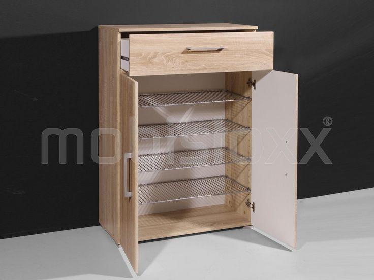 Commode modern PRISMA 2 deuren en 1 lade sonoma | Mobistoxx | Meubels online | bureau, inkom, kinderkamer, slaapkamer, keuken, eetkamer, salon, zitbanken, relaxfauteuils en badkamer