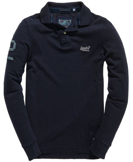 Superdry Polo à manches longues Destroyed