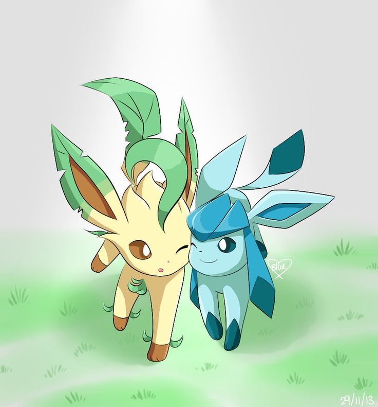 Request: Leafeon and Glaceon by Bluekiss131.deviantart.com on @deviantART