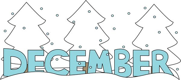 Free Month Clip Art | Month of December Snow Clip Art Image - the ...
