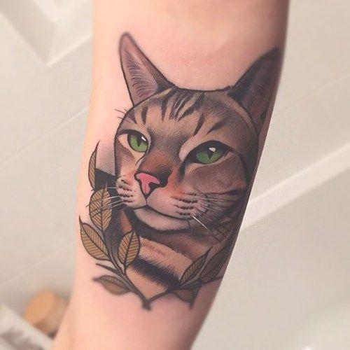 tatuajes cara de gato