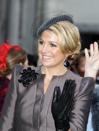 Queen Maxima's hairstyle. Bridal hairstyles.