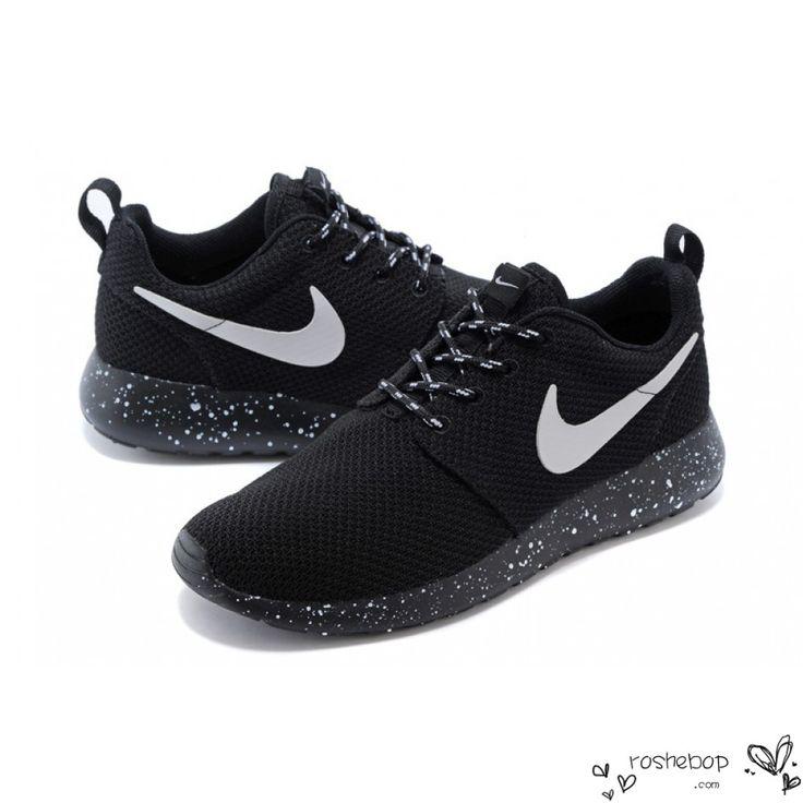 Nike Roshe Run Mesh Ink Spot Speckled Black Shoes Mens Womens - www .roshebop.
