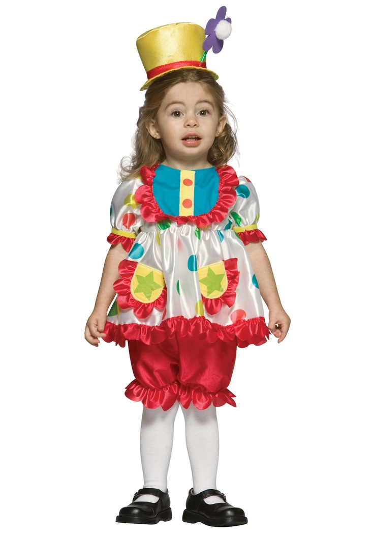 this toddler girls clown costume is an adorable kids costume for halloween get this cute clown costume in toddler or infant sizes at a great price