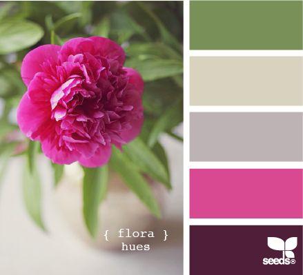 flora hues - i love pink and green