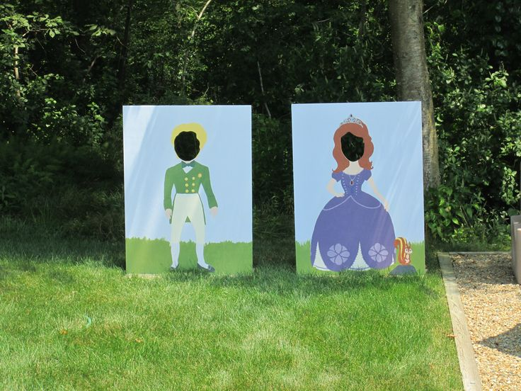 Sofia and James boards for character photos for Tay's Sofia the First birthday party!