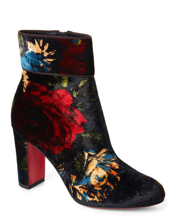 c82a00f6f7f CHRISTIAN LOUBOUTIN Moulamax 85 Floral Velour Booties