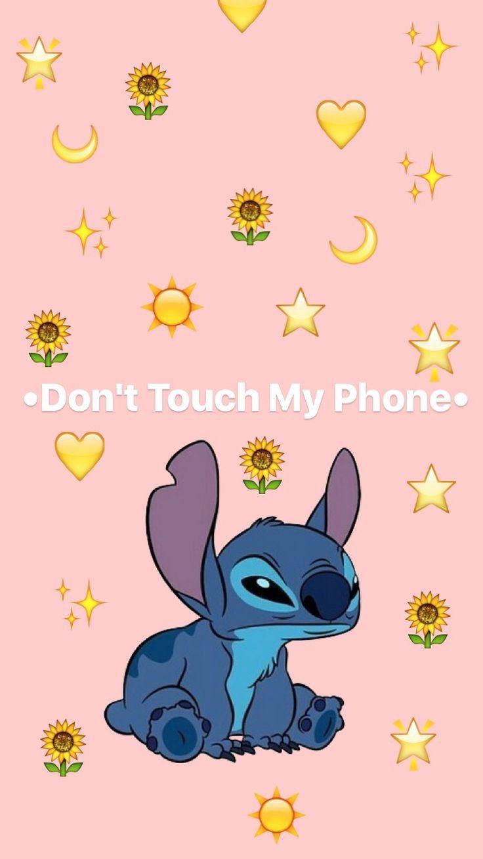 I Love Stitch In 2020 Funny Phone Wallpaper Phone Wallpapers Vintage Dont Touch My Phone Wallpapers