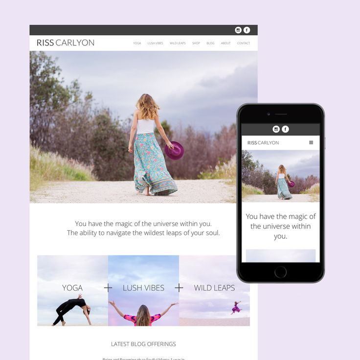 Riss Carlyon reiki and yoga teacher  website design Brisbane.