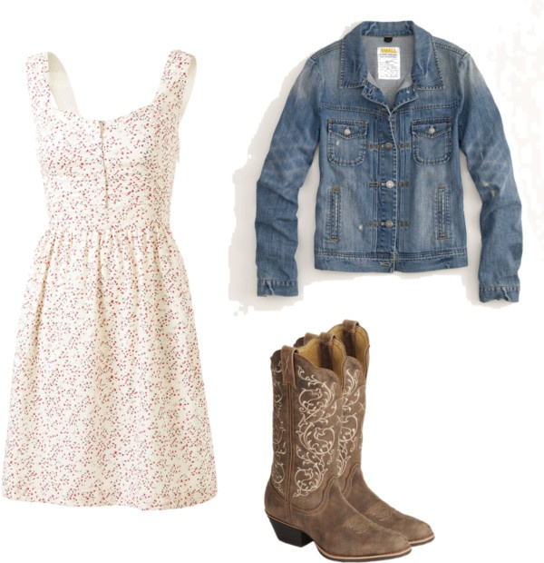 """Country girl dress"" by ejt1619 on Polyvore"