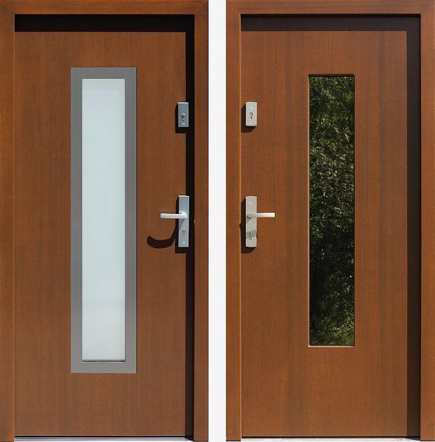 Drzwi wejściowe do domu z katalogu inox wzór 499,2-499,12+ds1