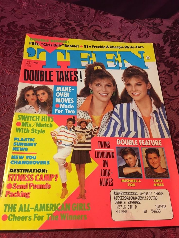 1988 Vintage 'Teen Magazine (July 1988 Paperback) Michael J. Fox SHIPS NOW! | eBay