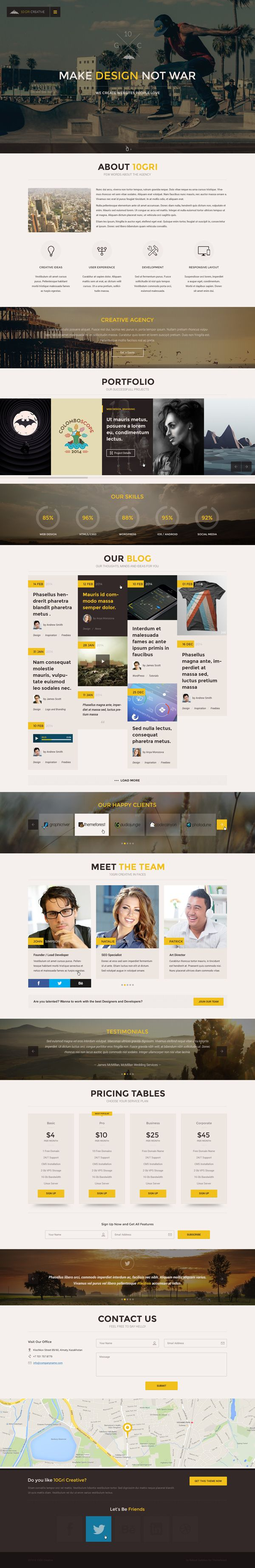 105GriCreative - OnePage PSD HTML5 Theme  #html5templates #psdtemplates