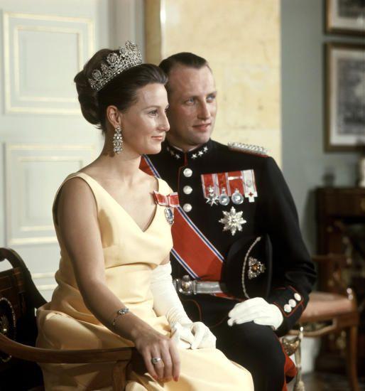 Crown Princess Sonja and Crown Prince Harald of Norway c. 1968