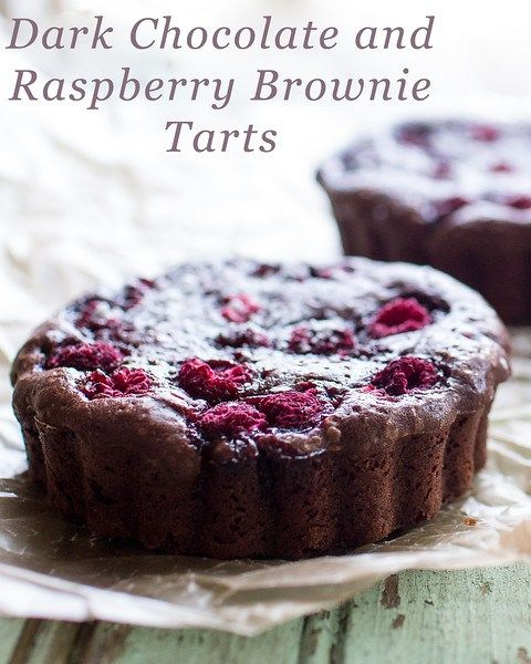 Dark Chocolate and Raspberry Brownie Tarts - you won't believe how easy these are!