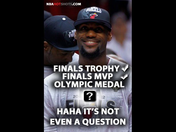 LeBron James Memes | LeBron James is sure he will win an olympic gold medal | NBAHotShots.com     Cool and funny!  Check us out!