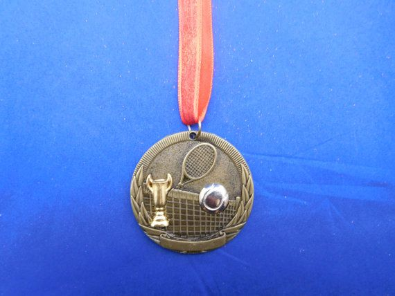 Tennis Ornament or for Coach Gift Gold  FREE by GiftWorks on Etsy