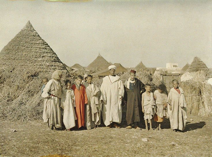 Ben Guerir, Morocco, between December 1912 and January 1913, Stéphane Passet, public domain via Wikimedia Commons.
