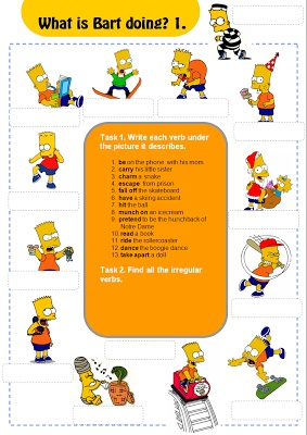 Present Simple and Continuous Games & exercises with the Simpsons! ESL ...