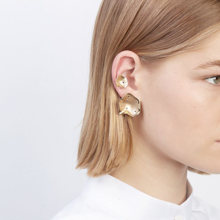 The Rock Oyster Earrings and Rock Oyster Ear Cuff by SARAH & SEBASTIAN