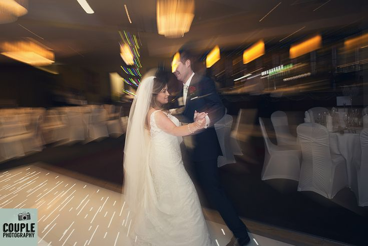 The bride & groom show us their dancing skills. Weddings at The Westgrove Hotel by Couple Photography.