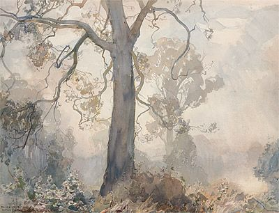 Hans HEYSEN | Gums under mist