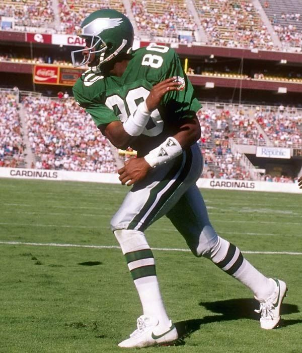 Chris Carter. Before he was a Viking and a HOFer, all he did was catch TD's for the Eagles!