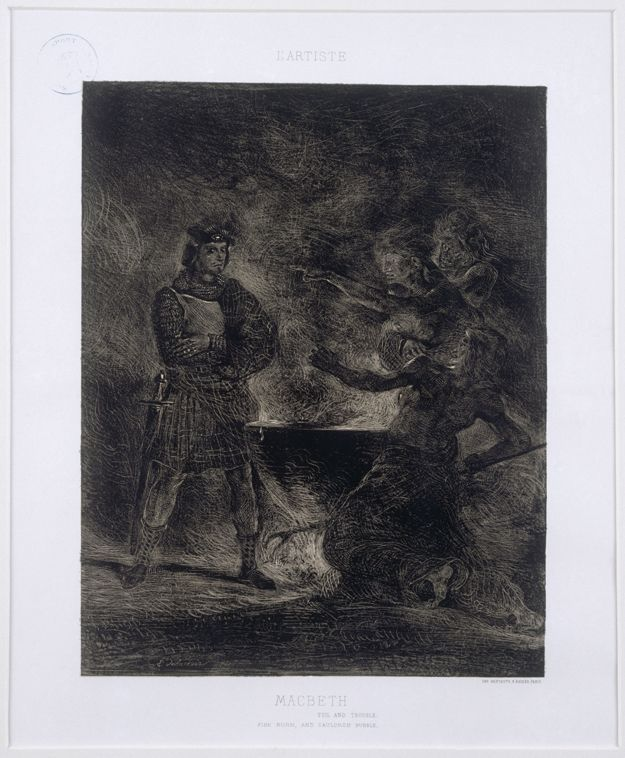 Macbeth and the Witches - Eugene Delacroix, 1825