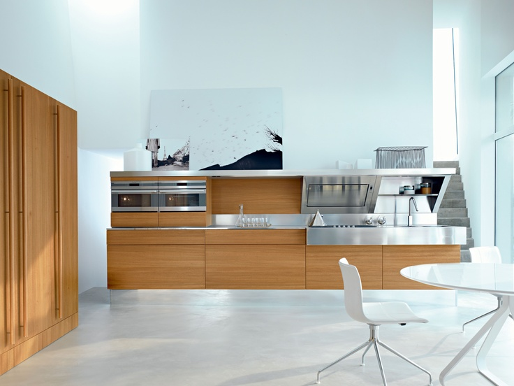 Kube, Offredi Design. Elm Wood Doors. The Kube Kitchen Expresses Refined  Style,