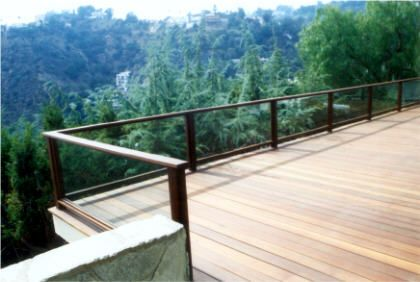 Glass Deck Railing | ... deck refinishing page to see many more deck pictures see our decks