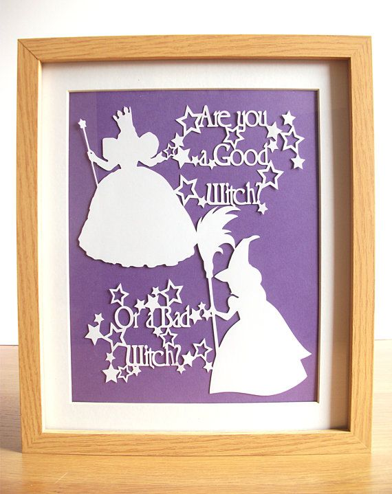 Hey, I found this really awesome Etsy listing at https://www.etsy.com/listing/228617475/wizard-of-oz-paper-cut-are-you-a-good
