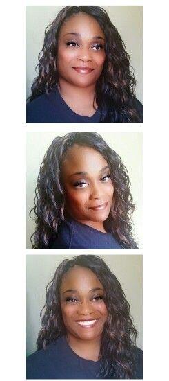 Crochet Braids with Outre Batik Brazilian Bundle Braid hair in color 1B/30. www.crochetbraidsbytwana.com #crochetbraids #braids #protectivestyles #hairextensions #crochet braids #hairweave #outre #crochetbraidsbytwana #outre_hair